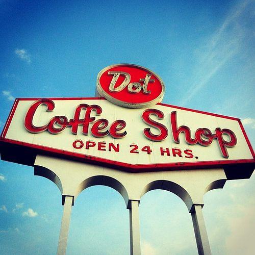 Dot Coffee Shop's neon sign -- a Houston landmark | Flickr - Photo Sharing!