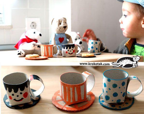 toilet paper tea cups