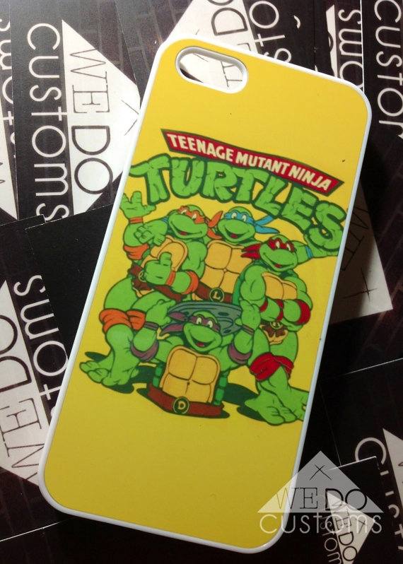 iPhone Cases -  Teenage Mutant Ninja Turtles TMNT Hipster Retro Vintage Hard Cover Protective Case iPhone 4 5 Gifts Under 25. $18.50, via Etsy.