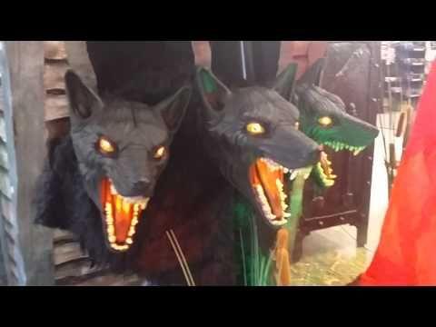 spirit halloween 2015 cerberus 3 headed dog looks like werewolf wolfman