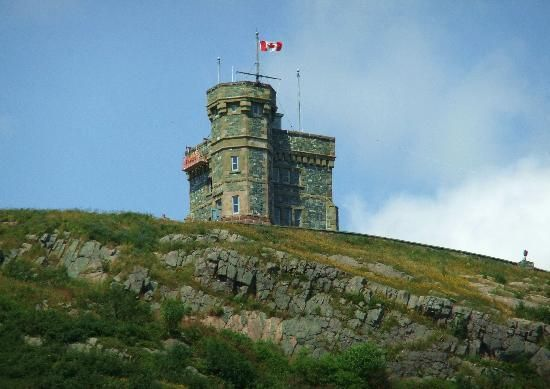 Cabot Tower on Signal Hill in St John's - historic landmark and walking area overlooking St John's harbour