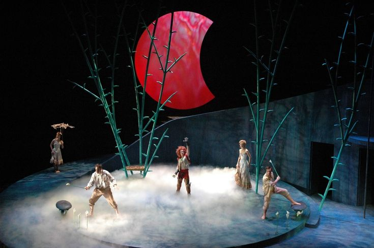 A Midsummer Night's Dream. Pioneer Theatre Company. Set design by Peter Harrison.