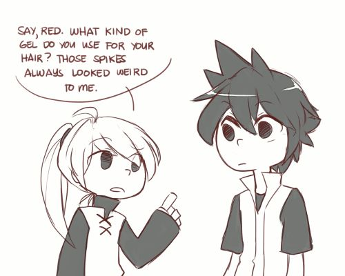 tags: pokemon, pokespe, red yellow, specialshipping, it's not that shippy tho, why isn't it shippy
