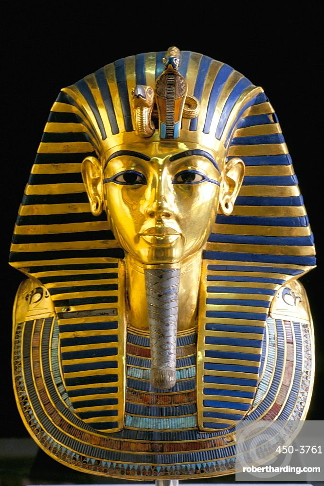 Eyeshadow Tut: Gold Mask Of Tutankhamun, Egyptian Museum, Cairo, Egypt