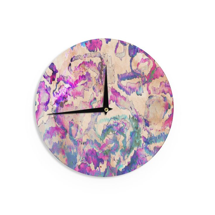 Kess InHouse Vasare Nar 'Flamingo Tropical' Wall Clock