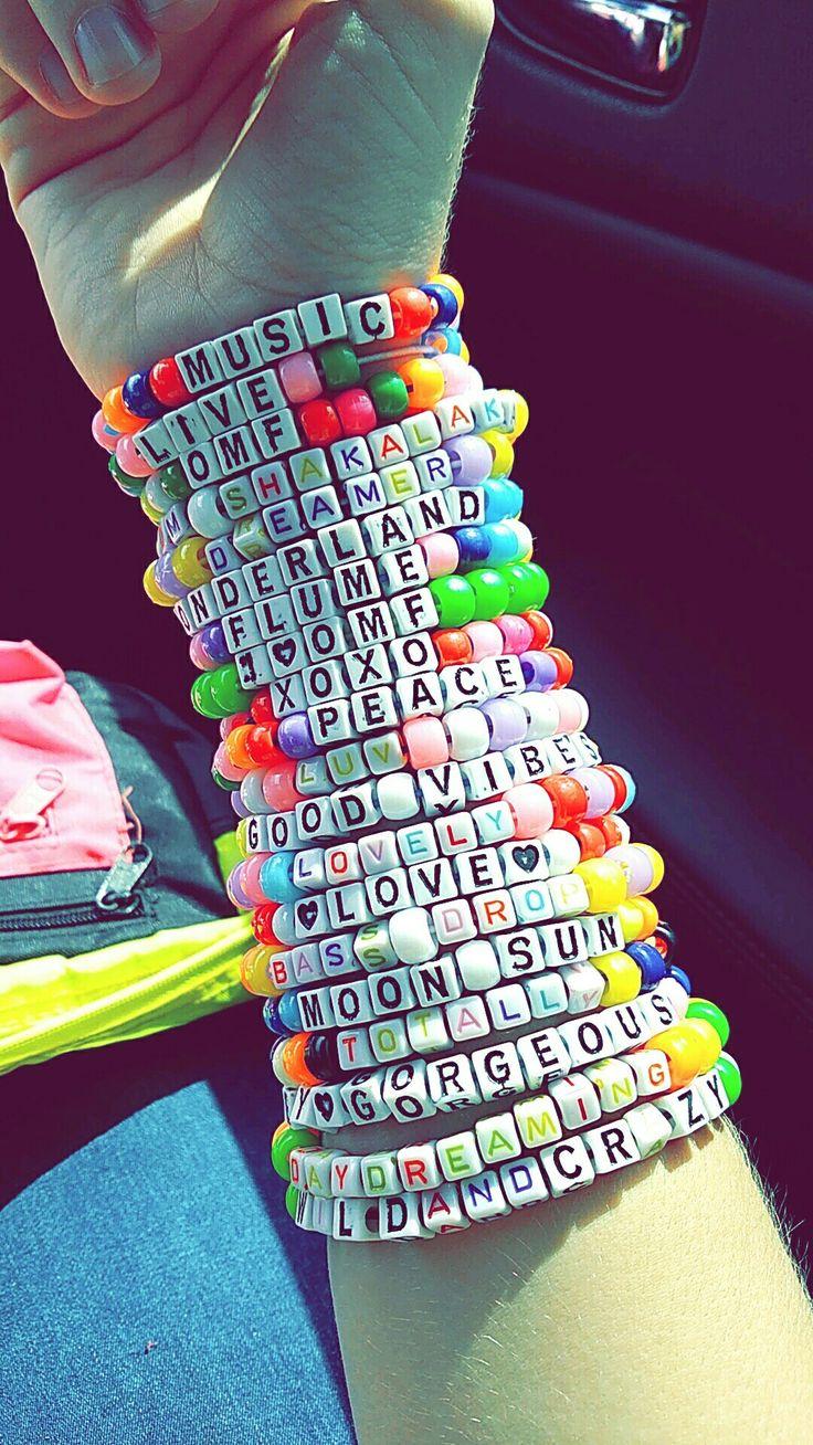 Okeechobee Music Festival kandi bracelet