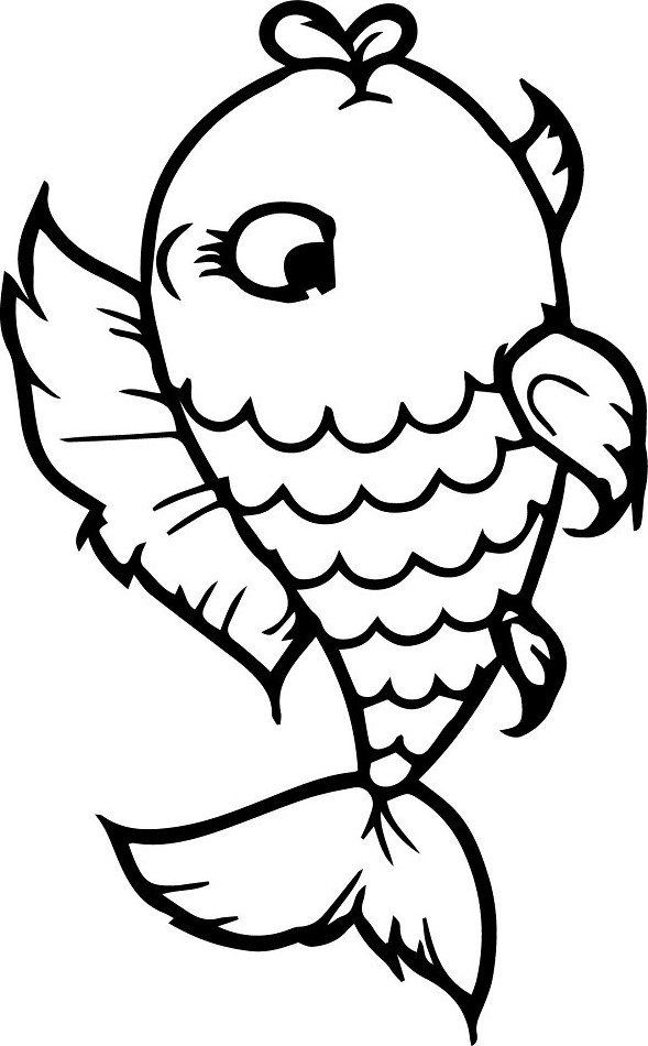 Free Printable Fish Coloring Pages Cute Fish Coloring Page Free Printable Coloring Pages For Kids Fish Coloring Page Coloring Pages Animal Coloring Pages