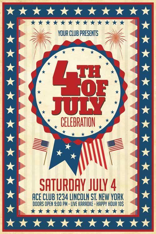 4th of july flyer template 4th of july flyer template 4th