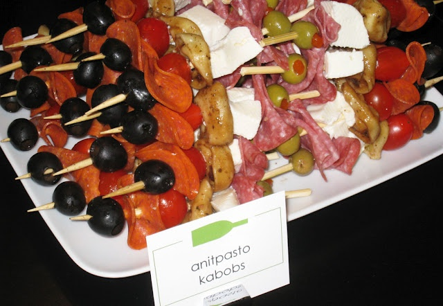 wine & cheese party... like the antipasto kebobs