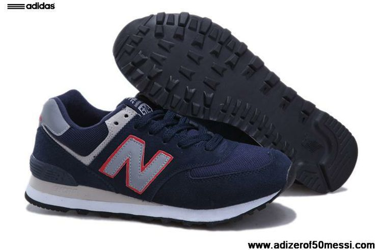Latest Listing New Balance 574 ML574NR Navy Blue Red Soccer Boots For Sale