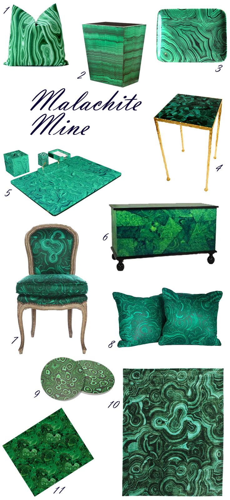 Emerald green furniture etsy google search ideas for Emerald city wall mural