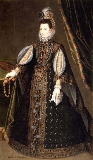 1585-1591 infanta Catalina Micaela, Duquesa de Saboya - Hija de Felipe II Museo de la Fundación Lázaro Galdiano. Anónimo.