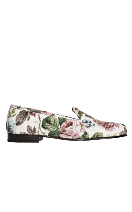 wildflower Stubbs & Wootton Rose Floral Slippers // follow us on instagram: @ thewildflowers.events