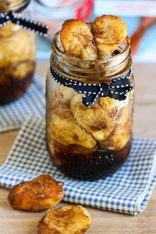 Monkey bread in a jar | Dessert First | Pinterest