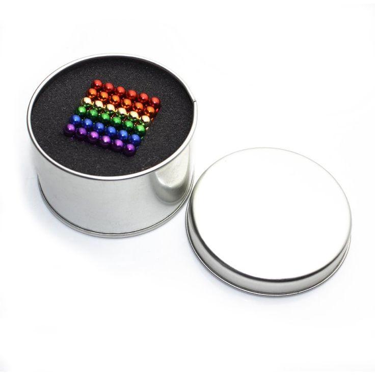 Nickel magnetic balls... Rainbow magnetic balls.... With tin box 😎😎 Pretty cheap