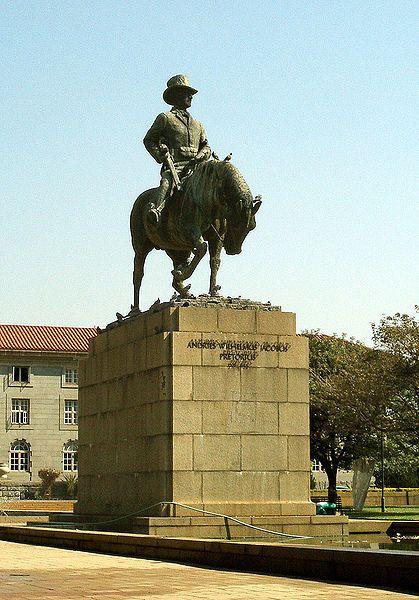 Statue of Andries Wilhelmus Jacobus Pretorius (November 27, 1798 – 23 July 1853) whom Pretoria was named after.