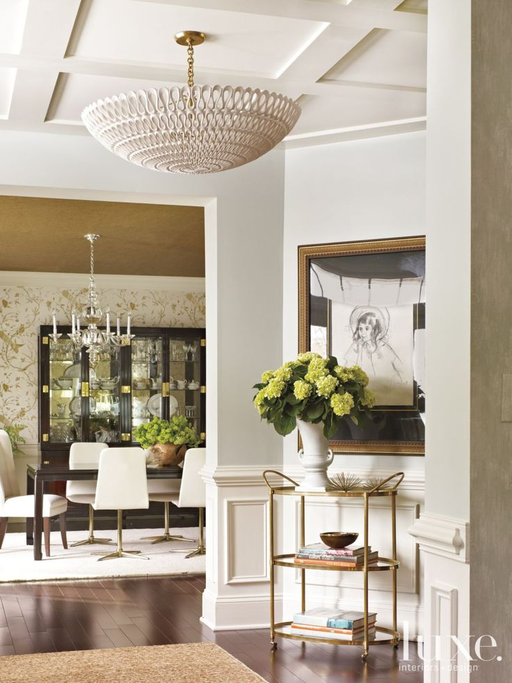 Gold And Cream Transitional Dining Room Luxesource Luxe Magazine The Luxury Home Redefined