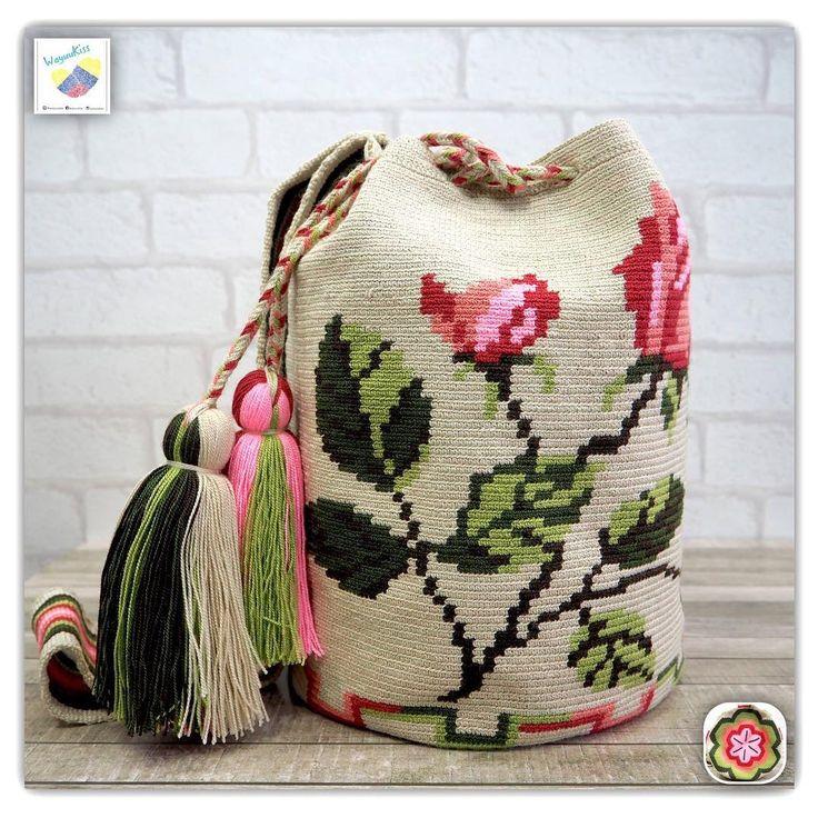 10 отметок «Нравится», 1 комментариев — Wayuu Bags &Bikini etc. (@wayuukiss) в Instagram: «Wayuu bag one strand รุ่น premium flower ราคา 5000 -/ •ฐาน 9นิ้ว สูง 10.5นิ้ว •สายยาว 100 cm. •ฟรี…»