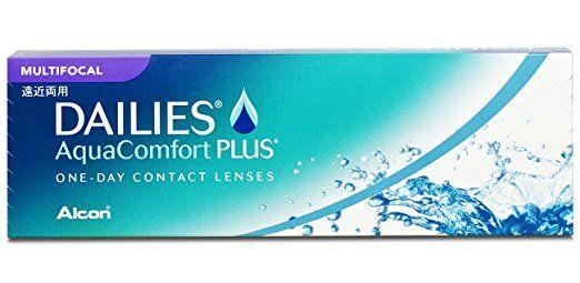 Alcon Ciba Vision Dailies AquaComfort Plus Multifocal Tageslinsen weich, 30 Stück / BC 8.7 mm / DIA 14 / ADD HI / -0.25 Dioptrien