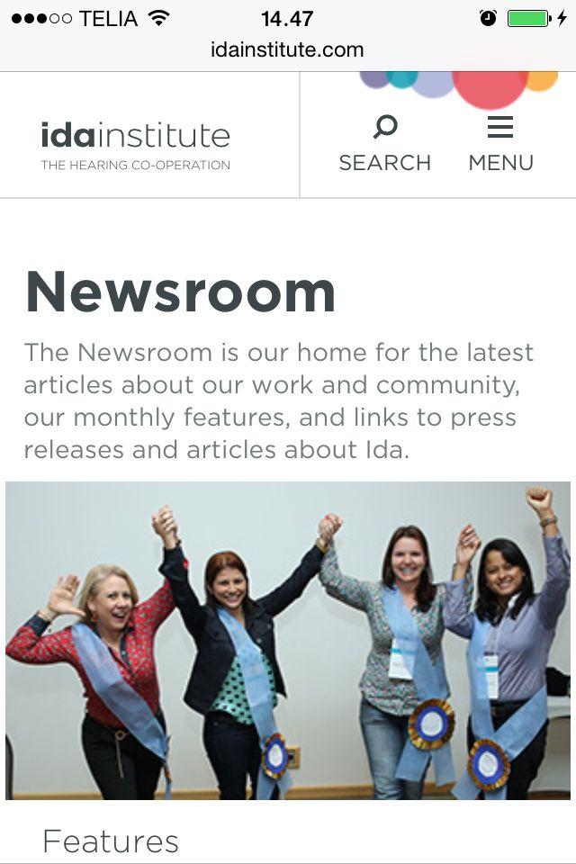 Ida Institute's redesigned website