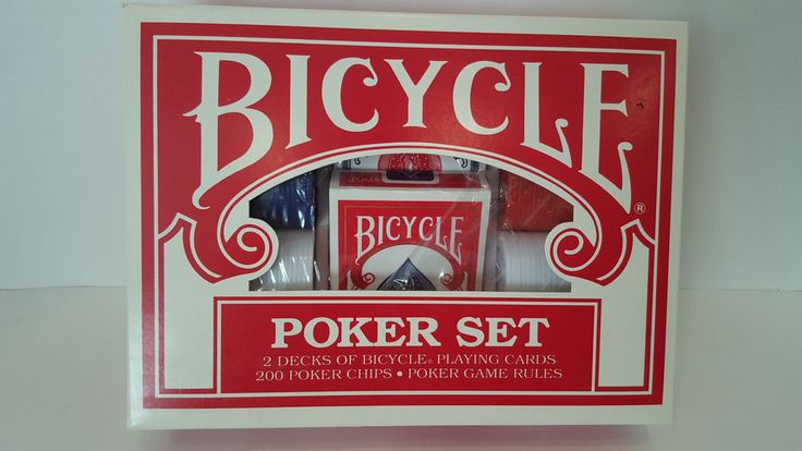 Bicycle Poker Chip Set 200 Chips 2 Decks Playing Cards Poker Game Rules
