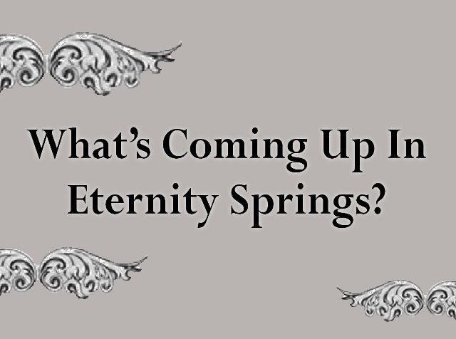 Emily announced the title for Eternity Springs #11 on her newsletter this week. Did you get it? If not, sign up for her mailing list on her website: www.emilymarch.com. And… (drumroll please…) Eternity Springs #11 will be called REUNION PASS! It's Lori & Chase's story.  Anyone as excited as I am? -Chelsea