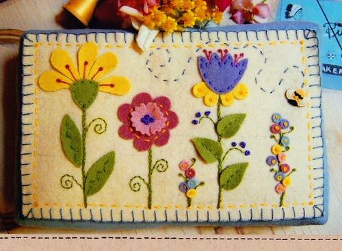 Summers Garden Pin Cushion Wool Felt Applique Sewing Accessory Pattern | eBay