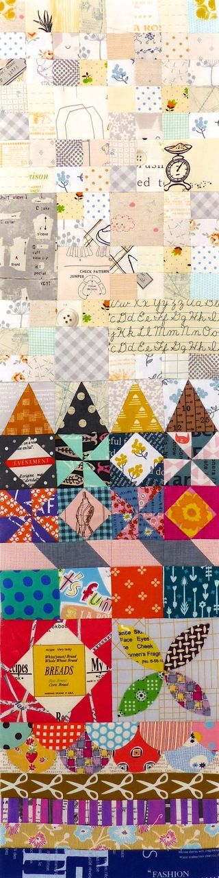 Lisa from Vintage Modern Quilts  is your host for constructing part 4 of My Small World . She has some very handy tips  on templates, seam...