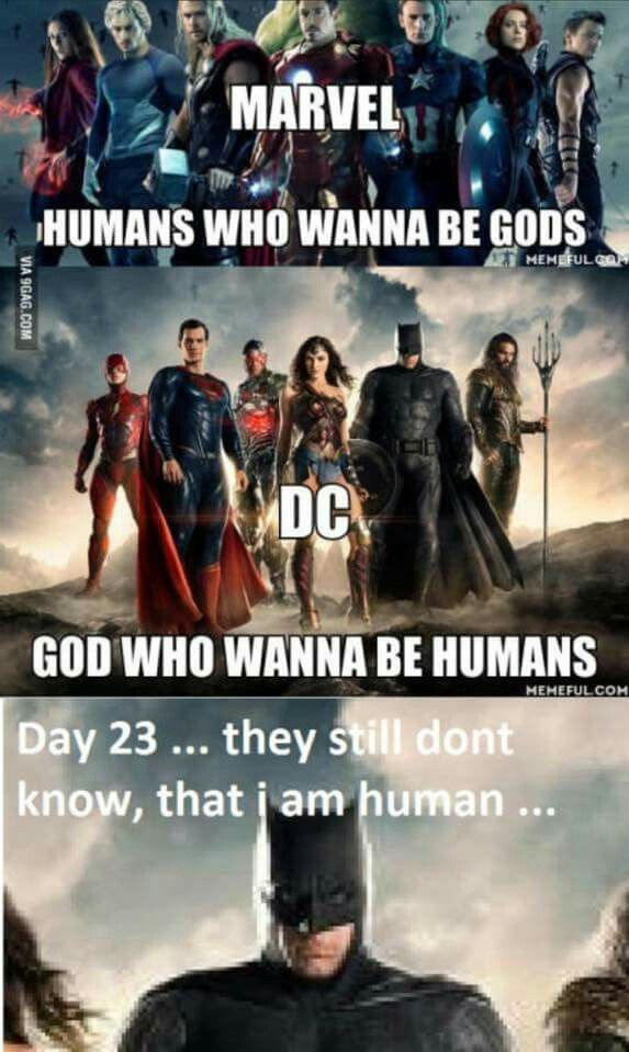 Thor is a god, and Batman and Flash are both human. Superman and Martian Man Hunter are both aliens. And Wonder Woman is a Amazon Goddess
