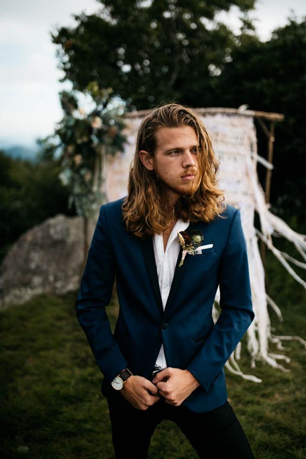 Navy groom style inspiration | Image by Julia Madden Sears