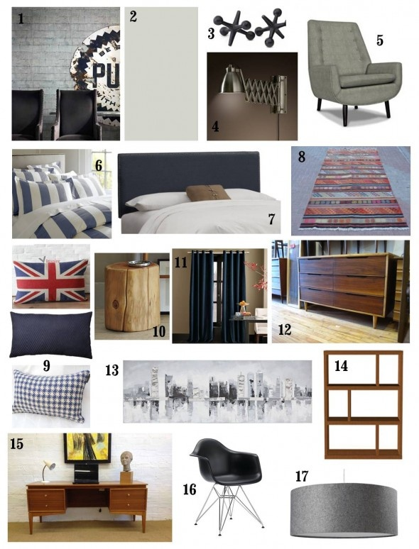 This boy's room uses a classic colour palette of navy blue, deep reds and greys with a vintage modern twist. Let's enter the TWEEN ZONE with this Vintage-Inspired Tween Boy's Bedroom.