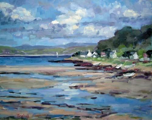 Boats by the Shore, Lochranza by Nancy Turnbull