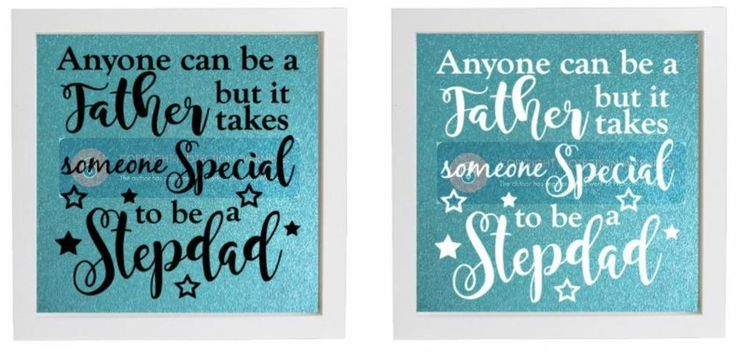 Vinyl sticker diy box frame anyone can be a father stepdad vinyl fathers day