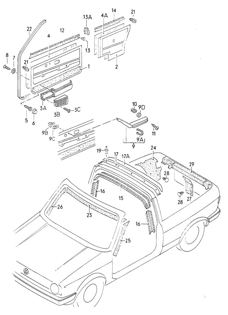 Volkswagen - GOC - 1989 - Body parts catalog (ETKA Pats Catalog)