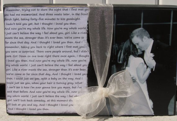 First Dance Photo and Song Lyrics... Wedding Gift..  Anniversary Gift..couple gift.. Mother's Day gift.. Father's Day gift on Etsy, $36.95