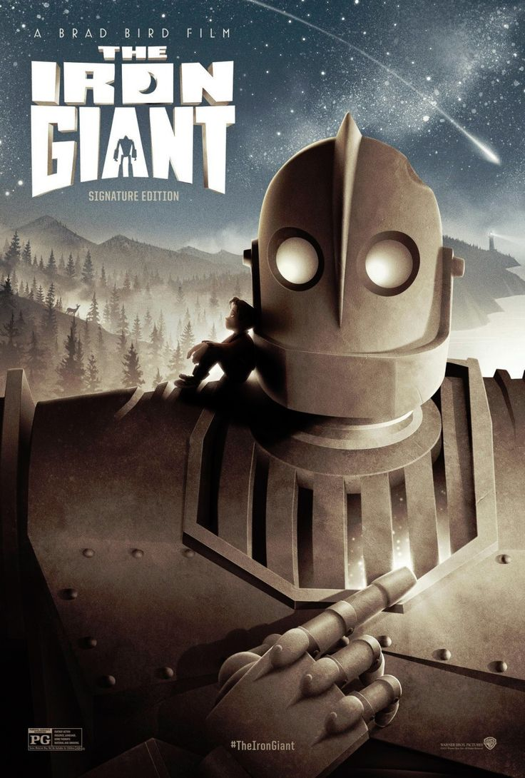 The Iron Giant, directed and written by Brad Bird. A young boy befriends a giant robot from outer space.