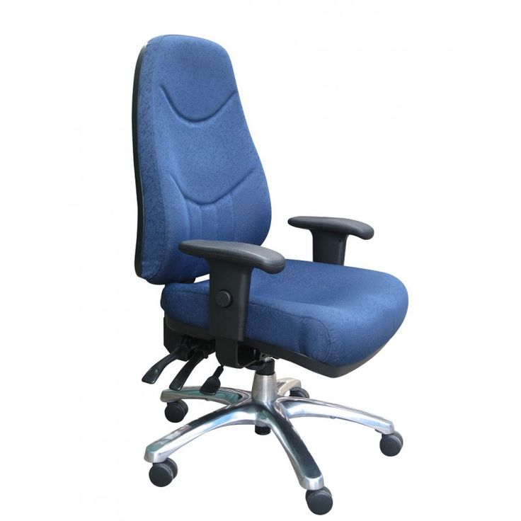 AFRDI approved high back manager office chair with a heavy duty chrome base and 3 lever fully ergonomic features. Ships Australia Wide. Shop With Us Today!