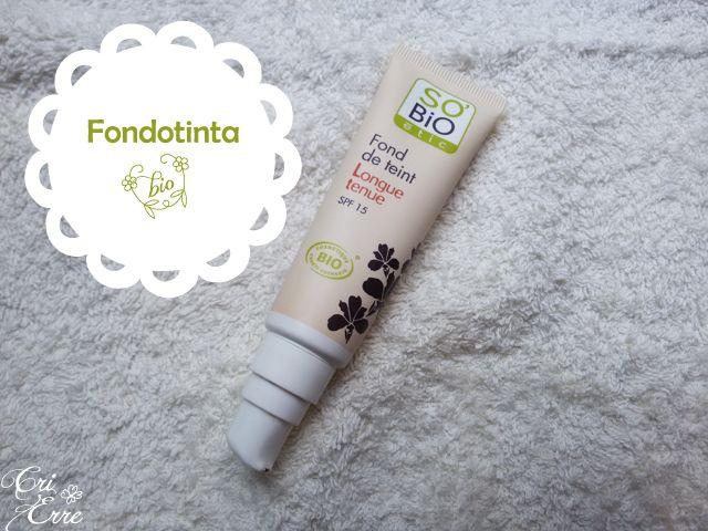 Fondotinta bio So' bio etic #makeup #bio #sobioetic