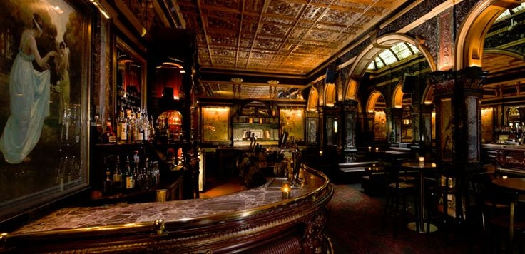 Marble Bar Hilton Sydney, Level B1, 488 George street. Built in 1893 the original Victorian style decor and artwork make it a must-see venue. Cocktails average AU $18.
