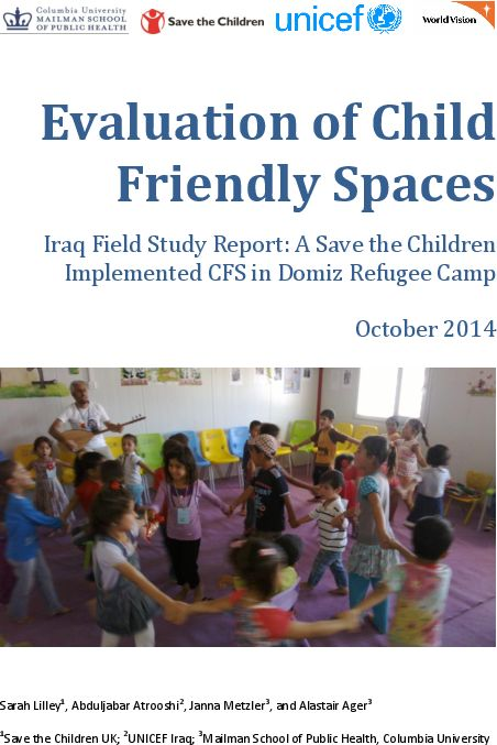 In a three-year collaboration, World Vision International and Columbia University, joined by UNICEF and Save the Children, sought to document the protective and restorative effectiveness of Child Friendly Spaces (CFSs), identify good practice in their design and implementation, and contribute to the development of better monitoring and evaluation tools for programming. Facilitated through this research partnership, this study was conducted in Domiz Refugee Camp located in the Kurdistan…