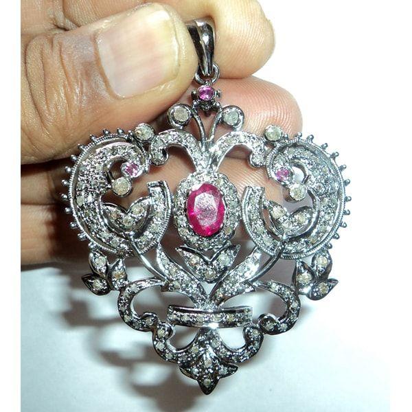 925 Sterling Silver Diamond Heart Pendant