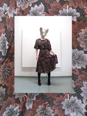 80's floral print dress: http://refash.net/  Photo © Salla Poutiainen