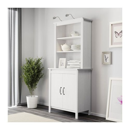 brusali high cabinet with doors white bookshelves. Black Bedroom Furniture Sets. Home Design Ideas