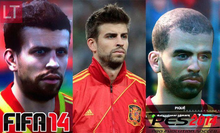 FIFA 14 vs PES 14 y Piqué.