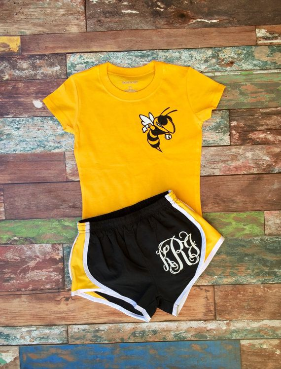 Monogrammed Cheer Shorts Personalized Cheer Camp Shorts by PoshPrincessBows1