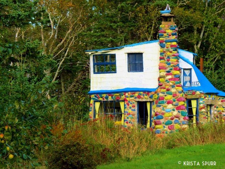 Charles MacDonald concrete faerie cottage, Blue cottage, Huntington Point, Kings County