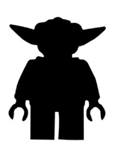 15 X Star Wars Lego Yoda Silhouette Card Toppers ANY Colour Size   eBay