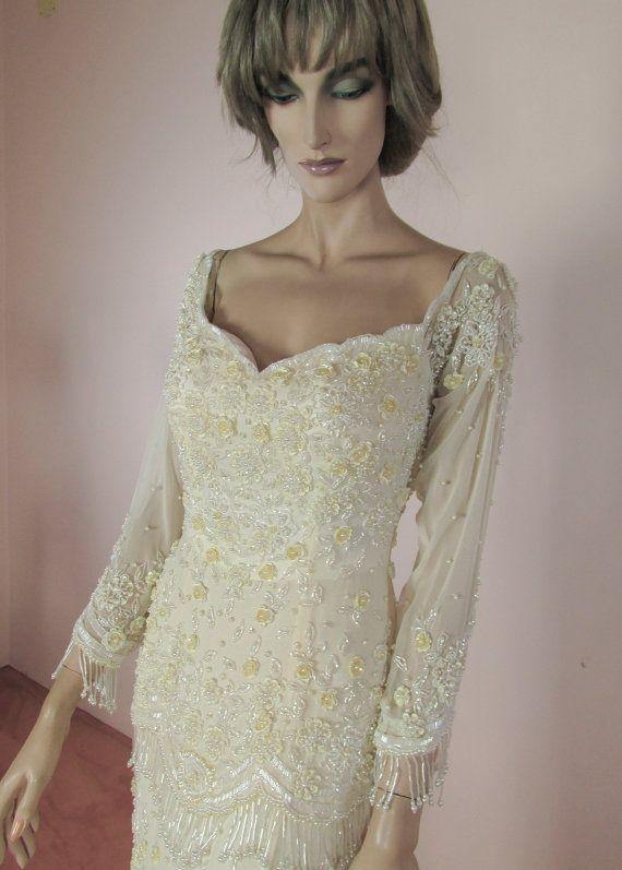 embroidered vintage wedding dresses