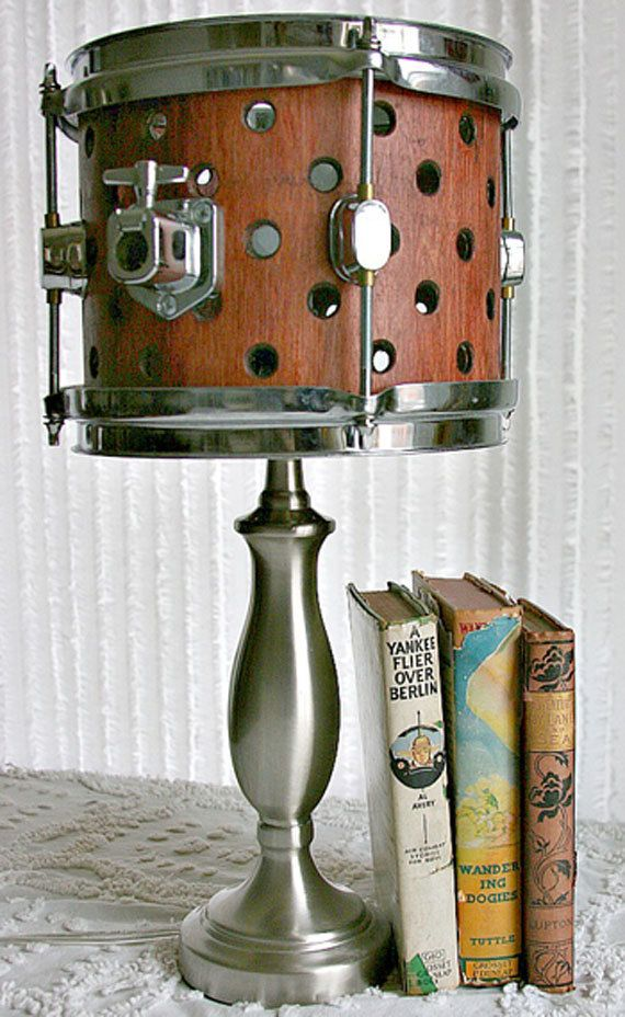 Wooden Drum Lamp by letsgetthisoverwith on Etsy
