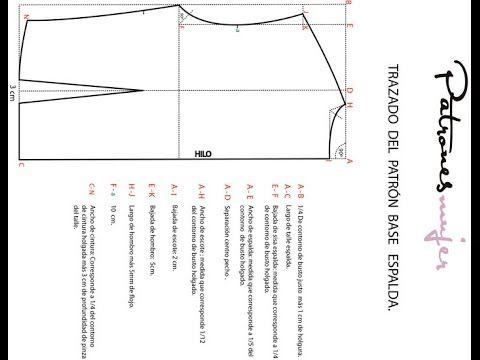 Curso de patrones: Como hacer trazado del patrón base espalda:Diy